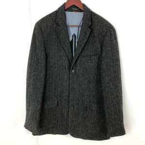 J CREW Herringbone Tweed Wool Blazer Jacket 40R